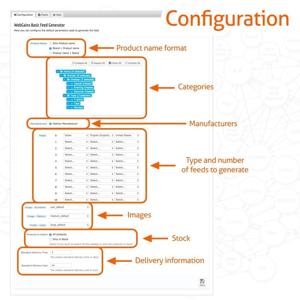 module - Daten Im-&Export - WebGains Basic Feed Generator - 2