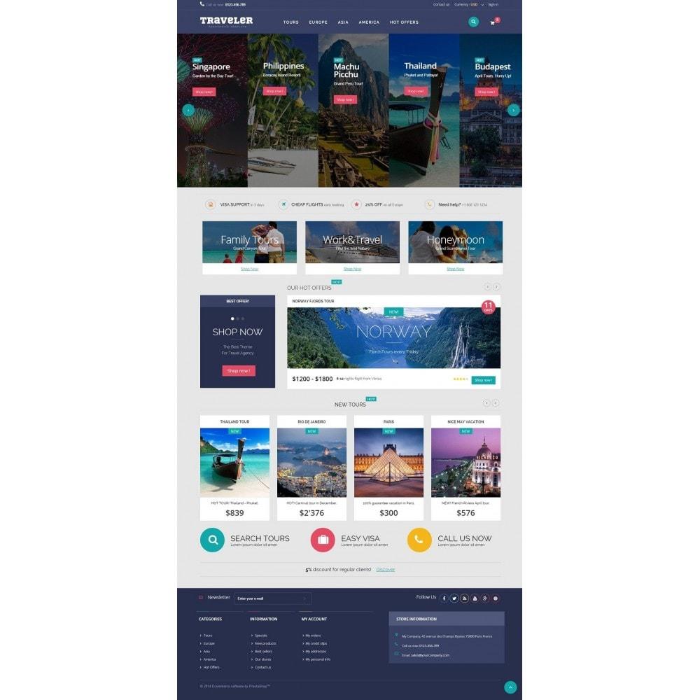 theme - Спорт и Путешествия - Traveler Prestashop 1.6 Responsive Theme - 2