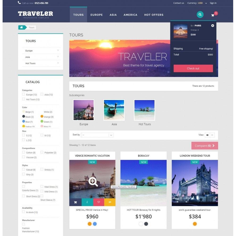 theme - Спорт и Путешествия - Traveler Prestashop 1.6 Responsive Theme - 7