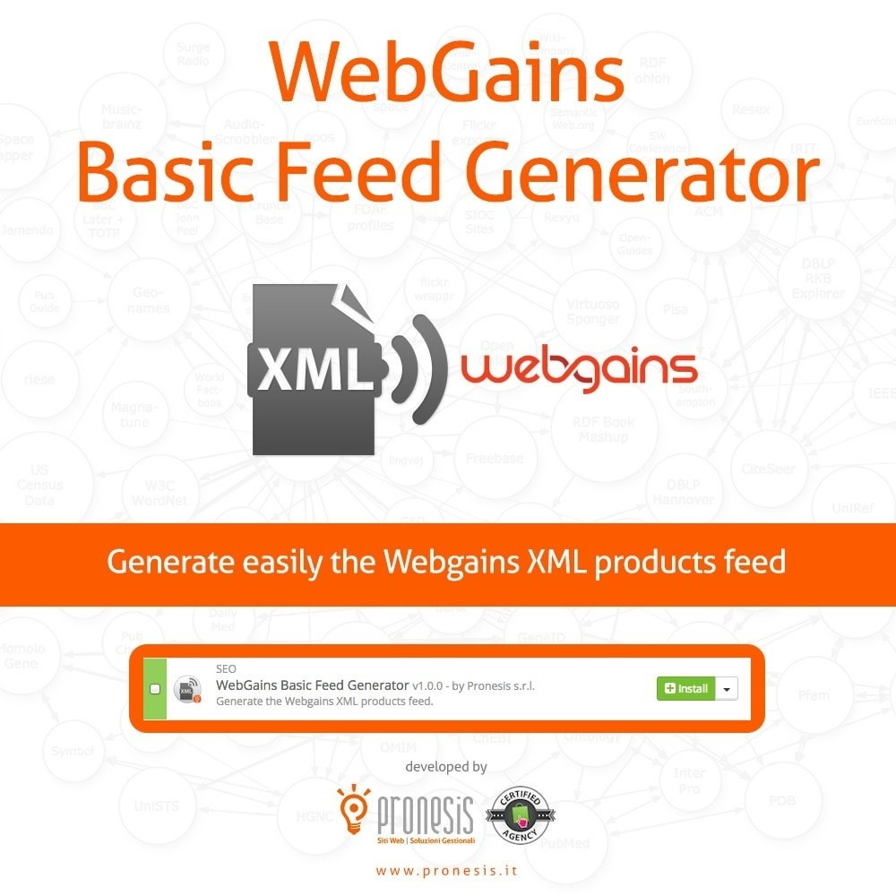module - Data Import & Export - Webgains generatore feed XML - 1
