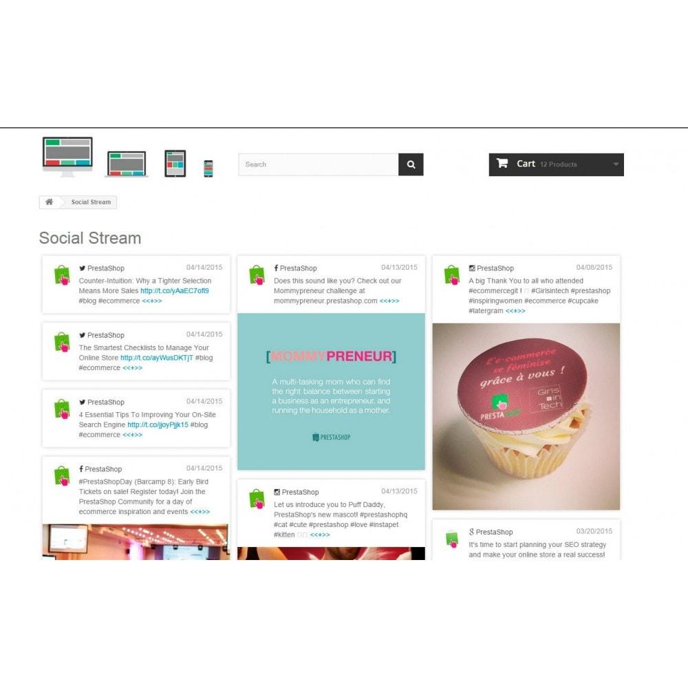 module - Social Widget - Presta Social Stream - 3