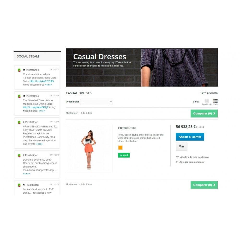 module - Social Widget - Presta Social Stream - 7