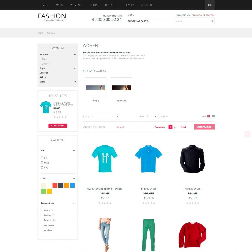 theme - Fashion & Shoes - Fashion - Clothes Store - 2