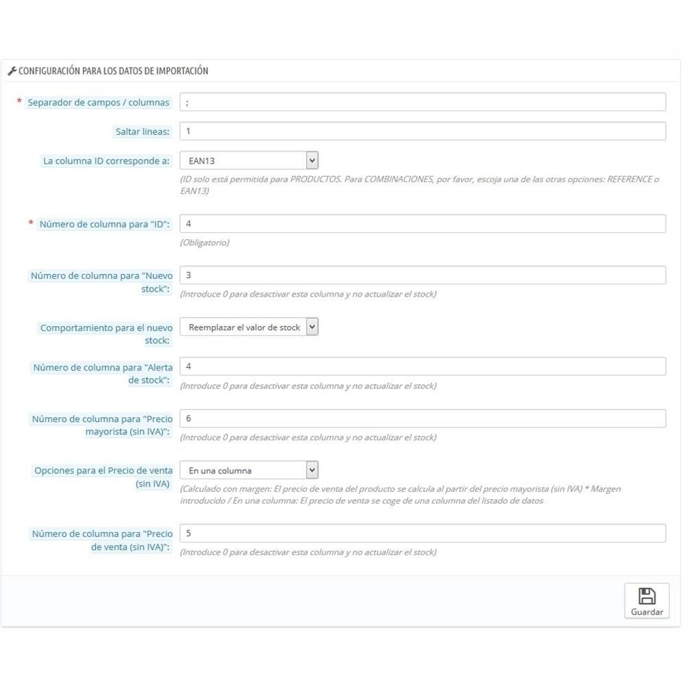 module - Edición Rápida y Masiva - Actualizar stock y precios vía CSV/URL/FTP + Alertas - 2