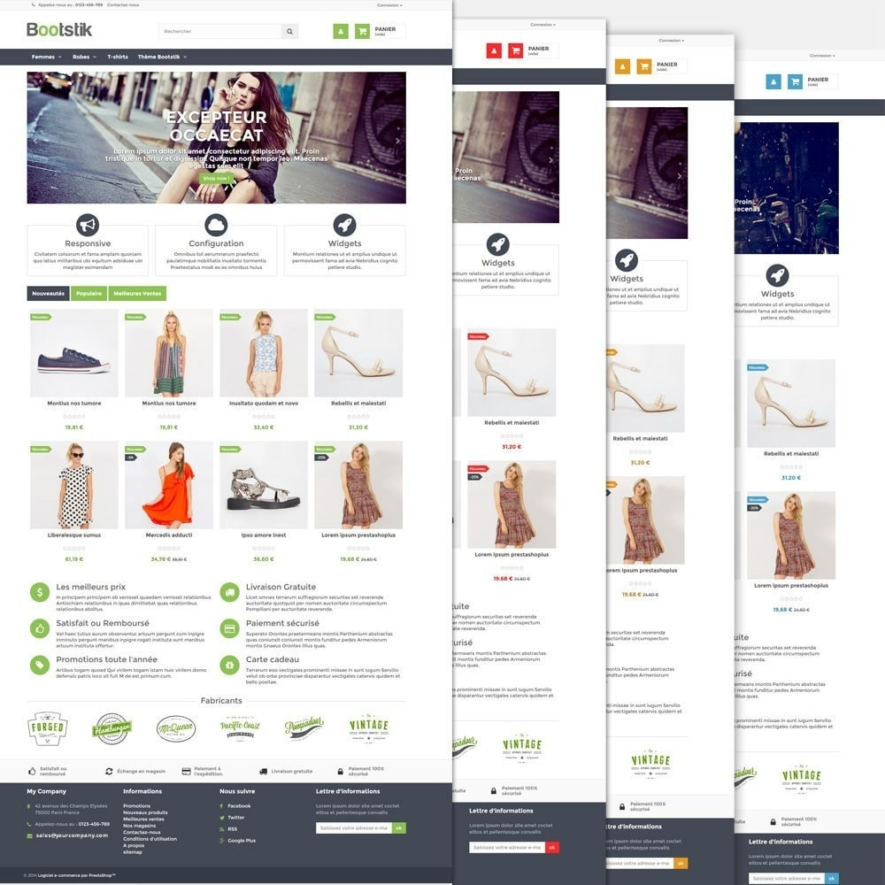 theme - Mode & Chaussures - Theme Responsive Bootstik - 3