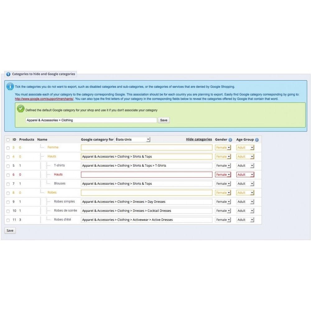 module - Płatne pozycjonowanie & Afiliacja - Google Shopping Export (Google Merchant Center) - 3