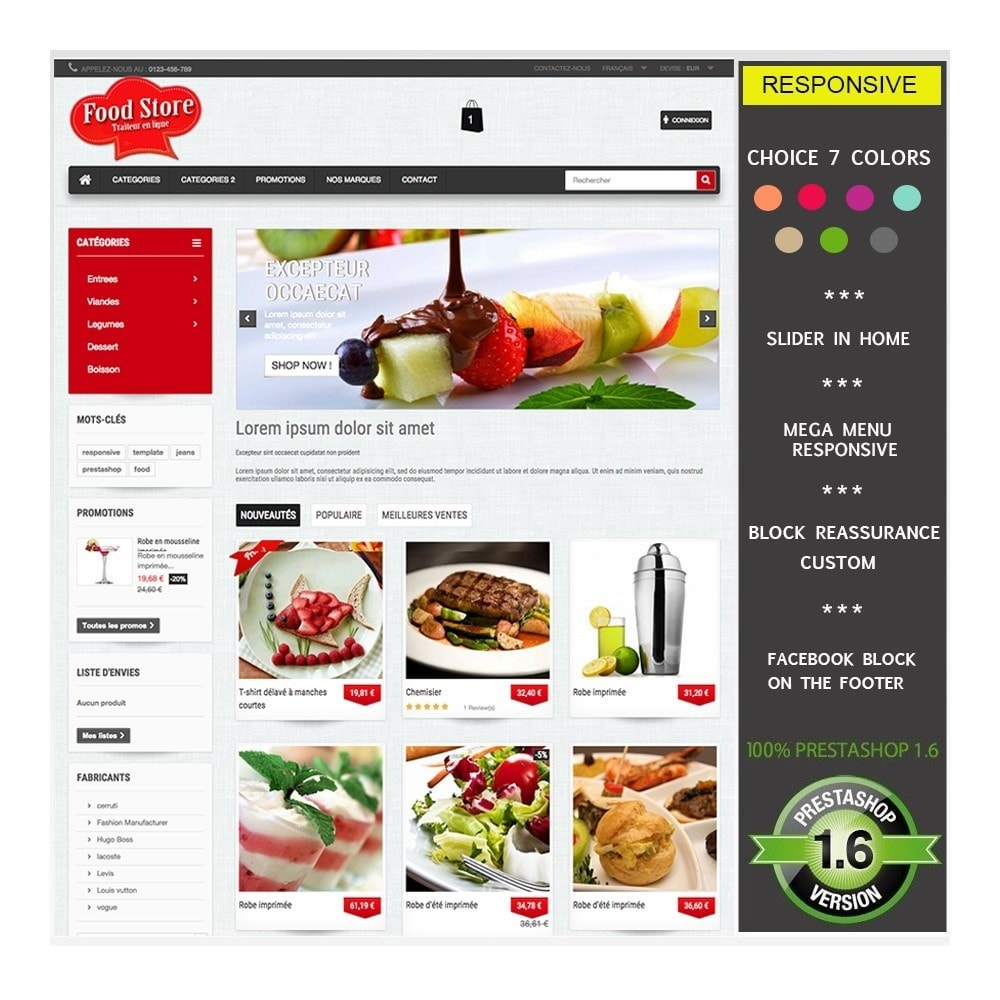 theme - Food & Restaurant - FoodStore - 1