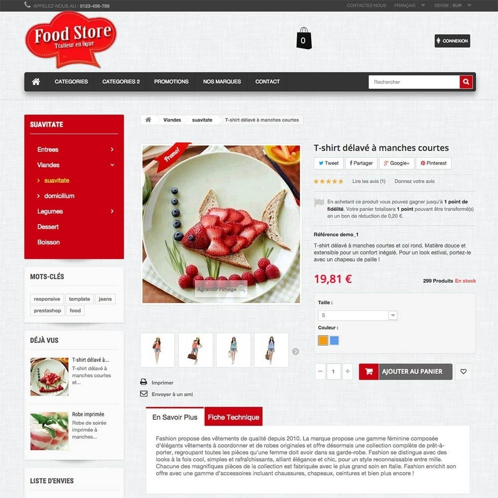 theme - Gastronomía y Restauración - FoodStore - 2