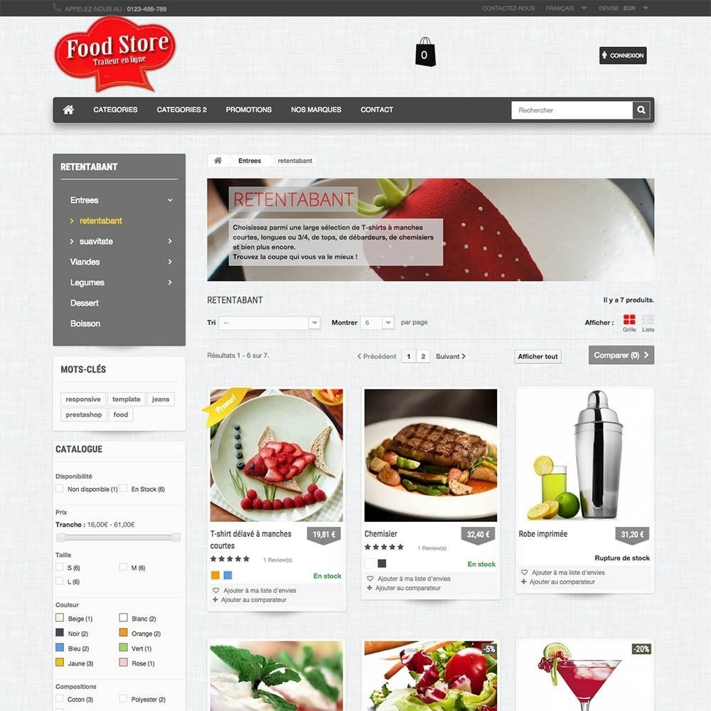 theme - Food & Restaurant - FoodStore - 3