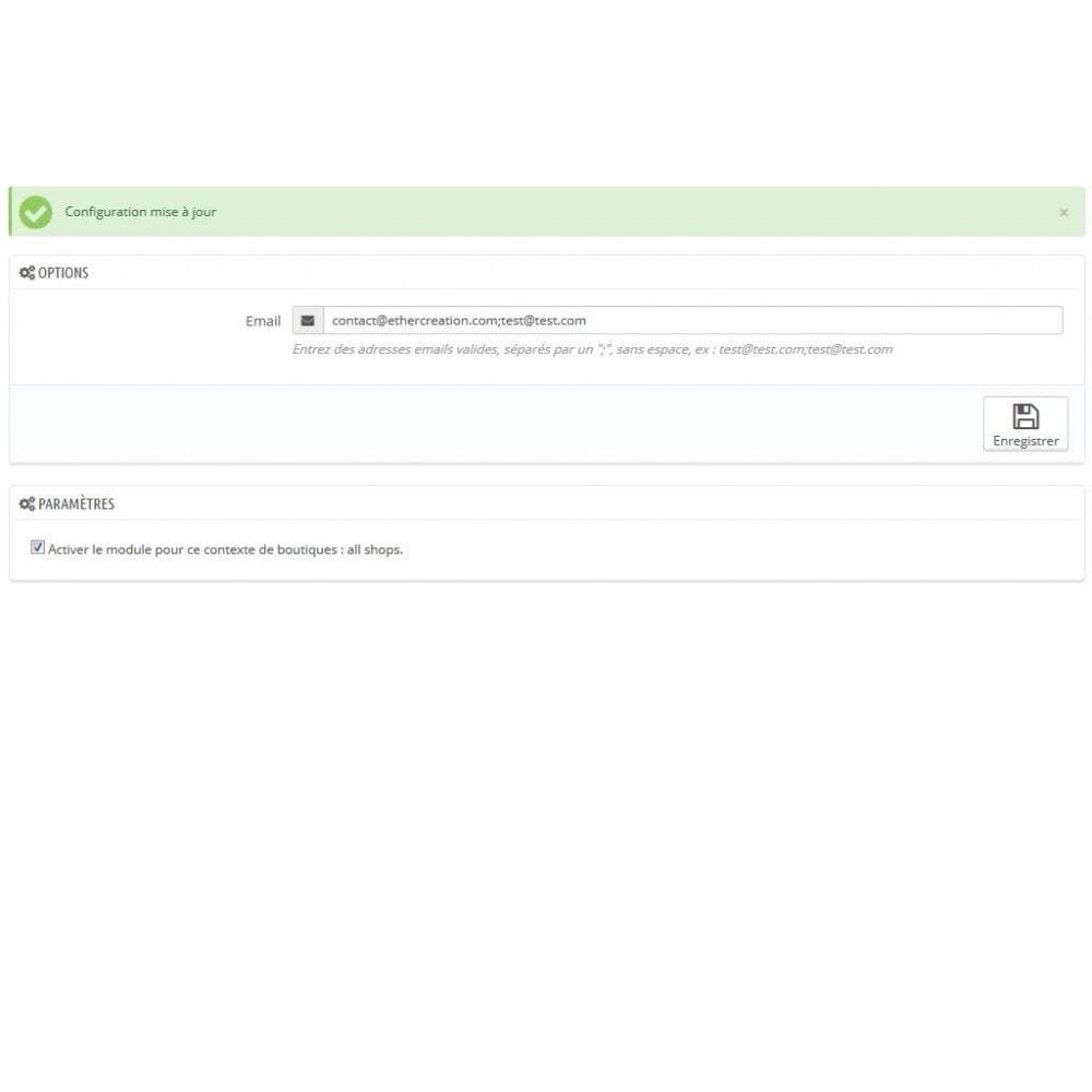 module - E-mails & Notifications - Recevoir une copie des mails envoyés par votre boutique - 2