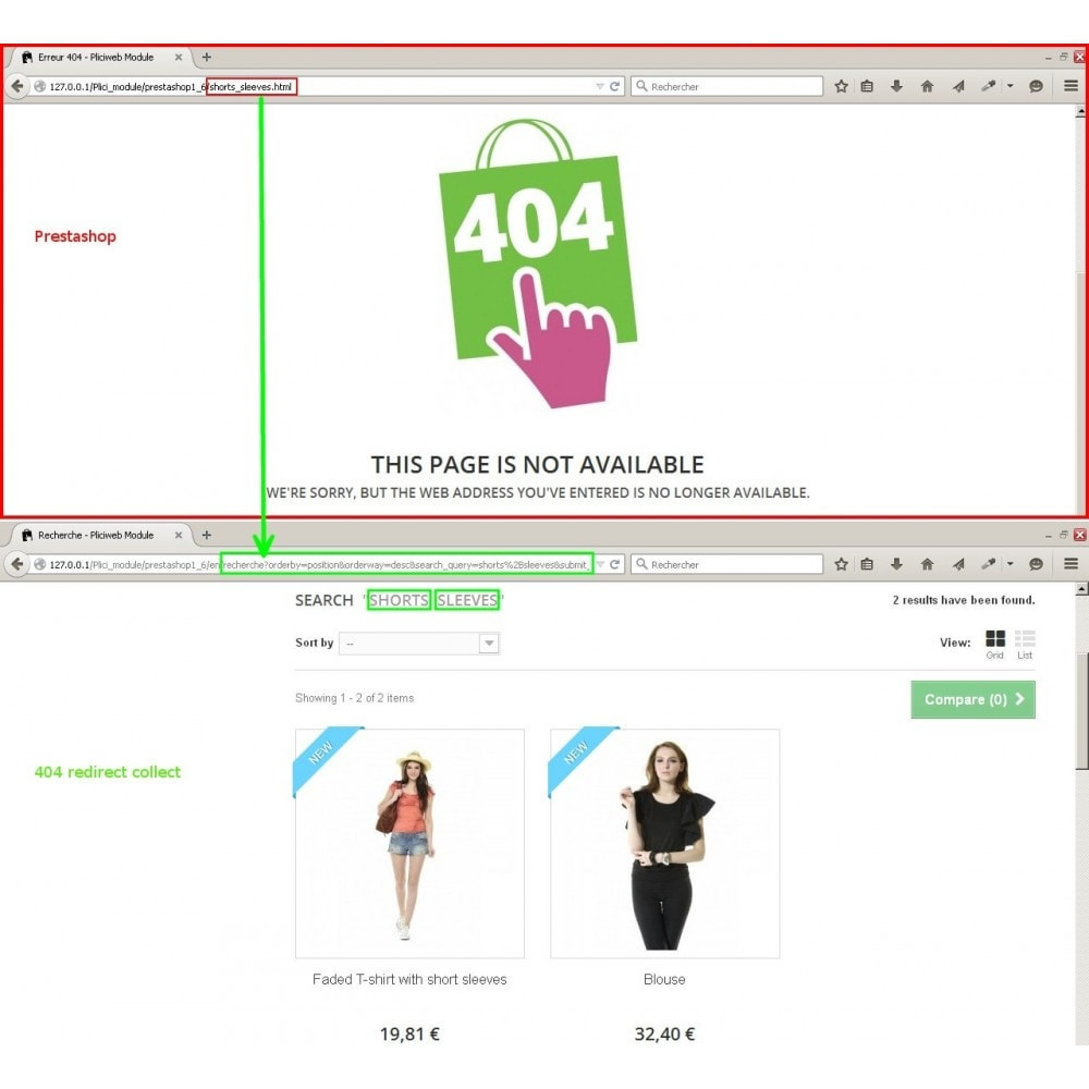 module - URL & Redirect - 404 redirect collect - 1