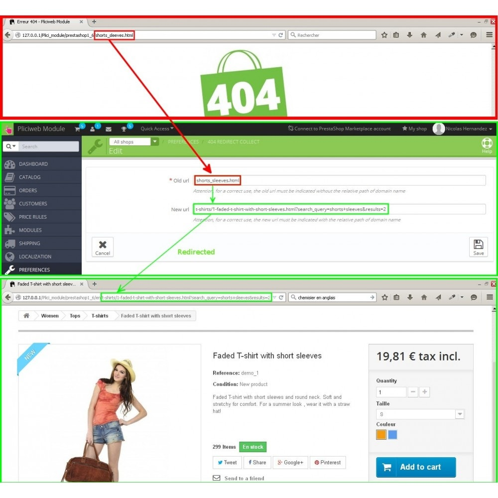 module - URL & Redirect - 404 redirect collect - 3
