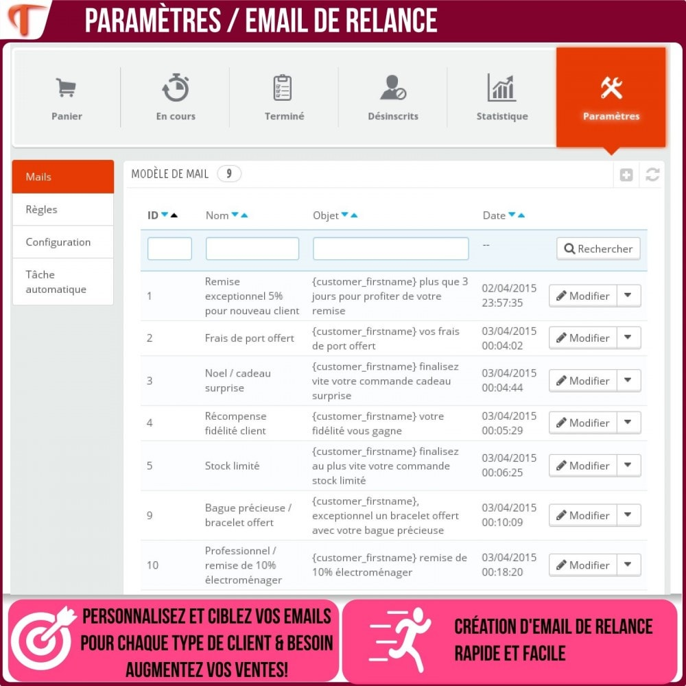 module - Remarketing & Paniers Abandonnés - Smart Cart Reminder / Relance Panier Intelligent - 17