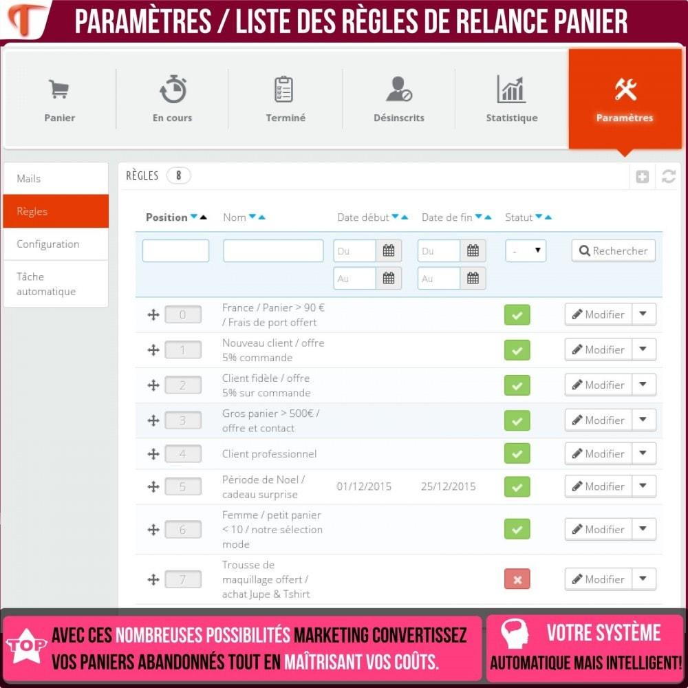 module - Remarketing & Paniers Abandonnés - Smart Cart Reminder / Relance Panier Intelligent - 20