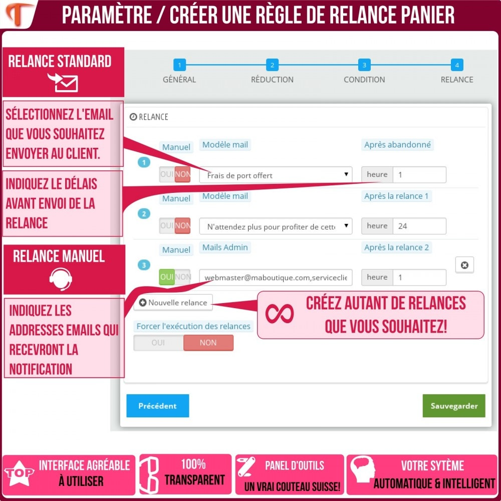 module - Remarketing & Paniers Abandonnés - Smart Cart Reminder / Relance Panier Intelligent - 24