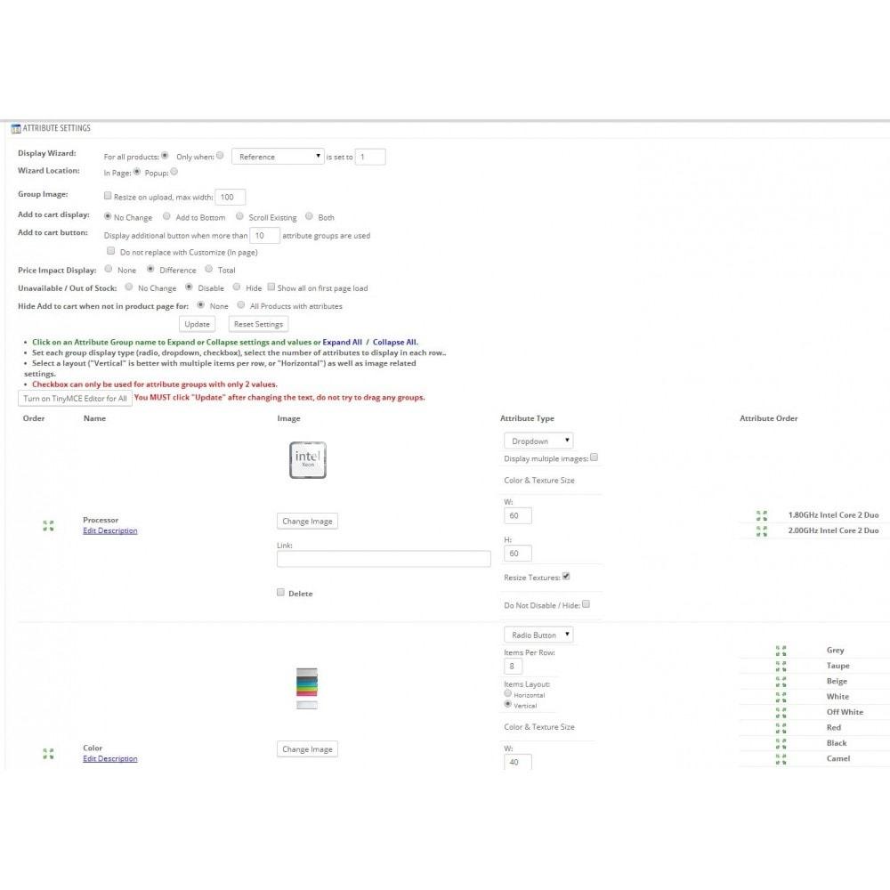 module - Diversificação & Personalização de Produtos - Attribute Wizard - 5