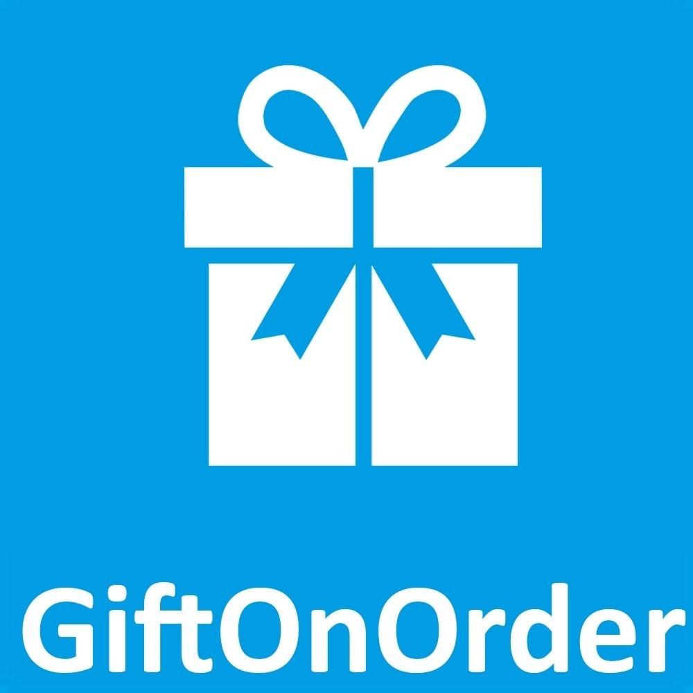 module - Promotions & Cadeaux - Olea Gift On Order - Ajout de Cadeaux au panier - 1