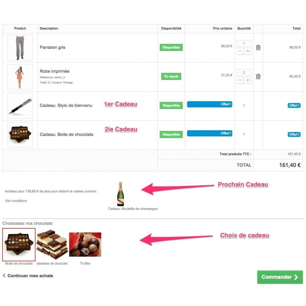 module - Promotions & Cadeaux - Olea Gift On Order - Ajout de Cadeaux au panier - 2