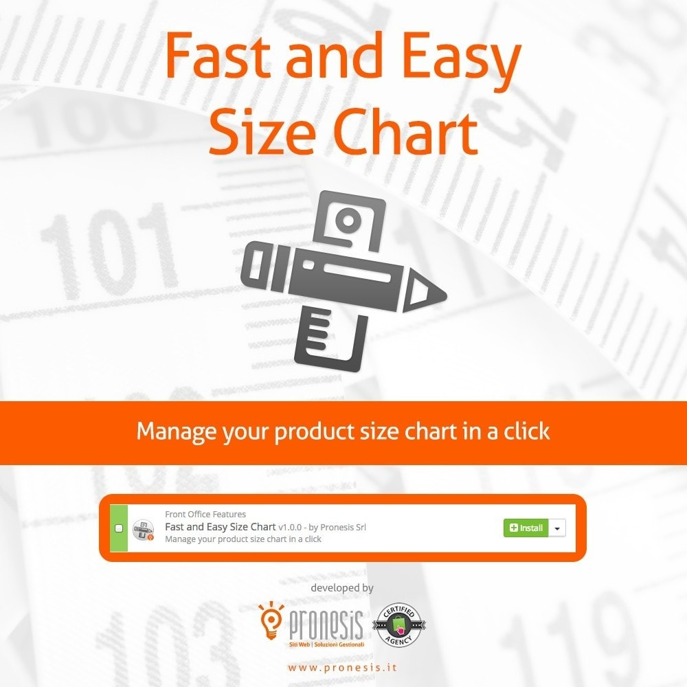 module - Rozmiary i jednostki - Fast and Easy Size Chart - 1