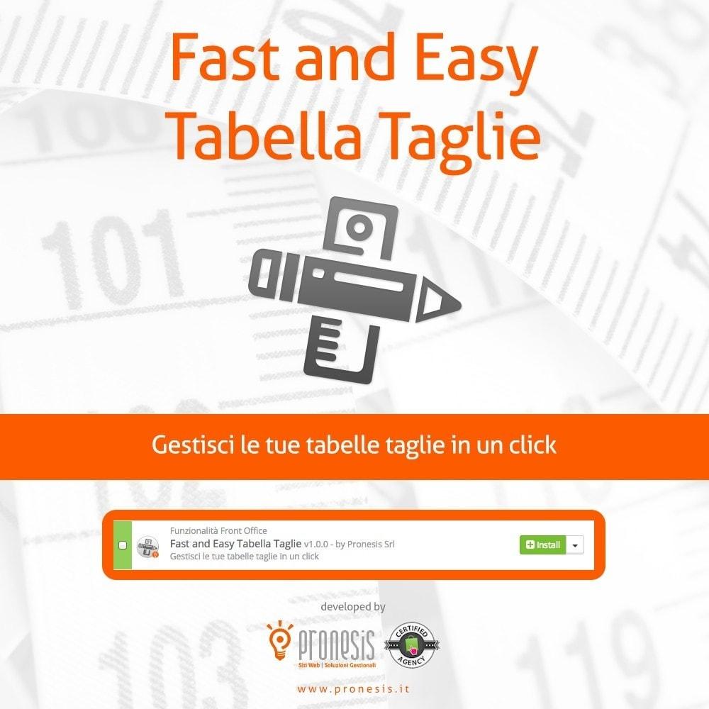 module - Grandezze & Unità di misura - Fast and Easy Tabella Taglie - 1