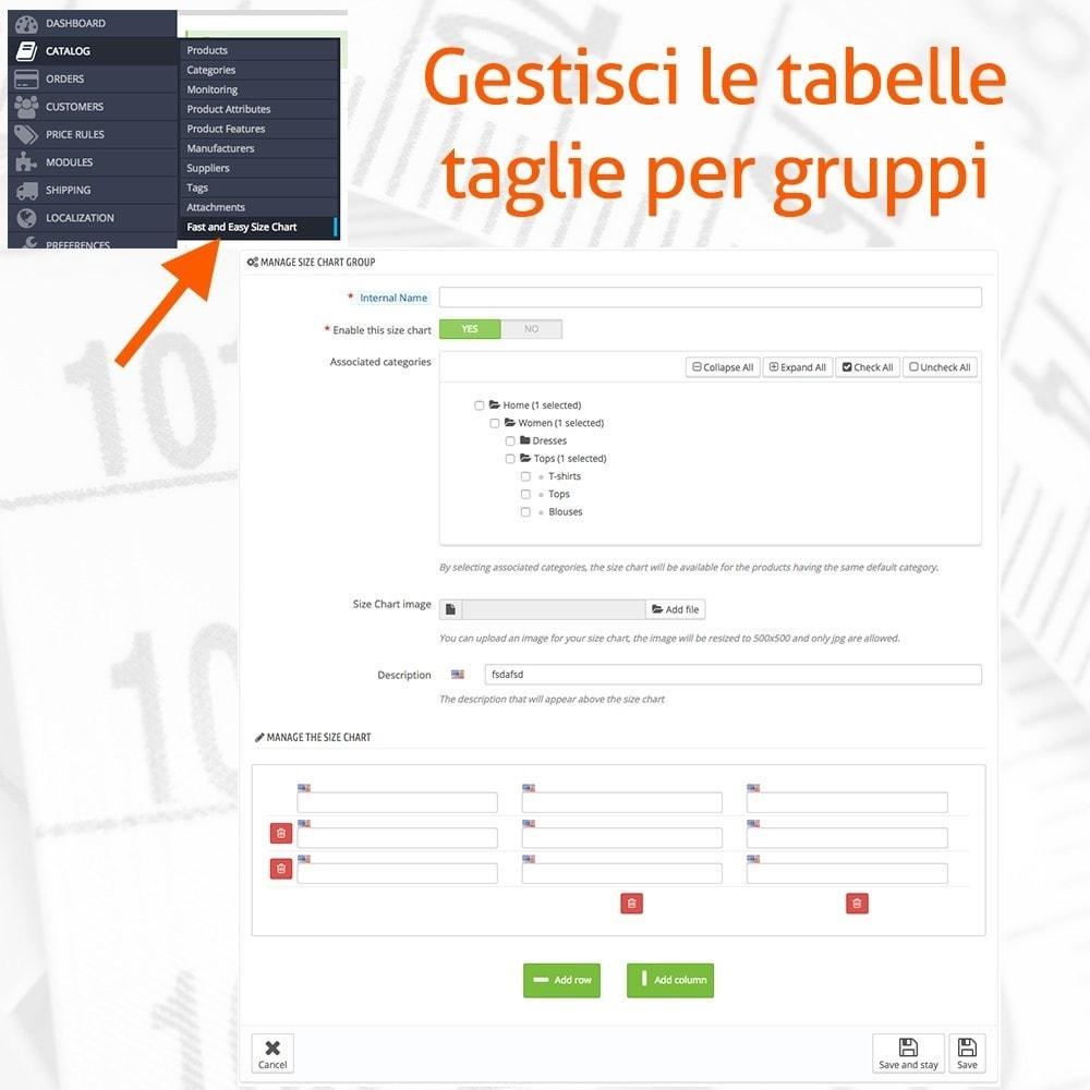 module - Grandezze & Unità di misura - Fast and Easy Tabella Taglie - 2