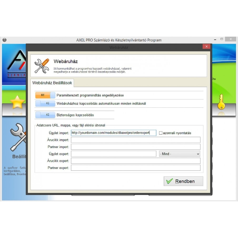 module - Księgowość & Fakturowania - AxelPro OrderExport - 1