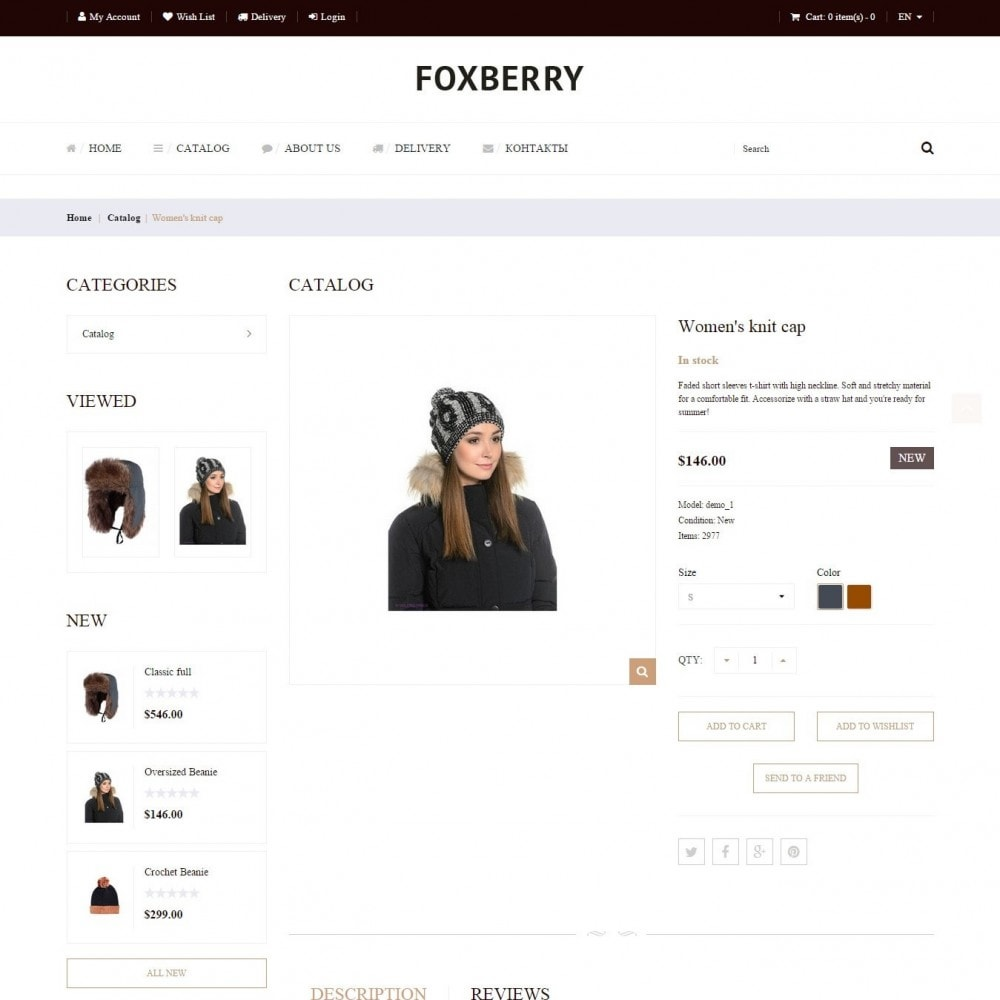 theme - Fashion & Shoes - Foxberry - Hats Store - 3