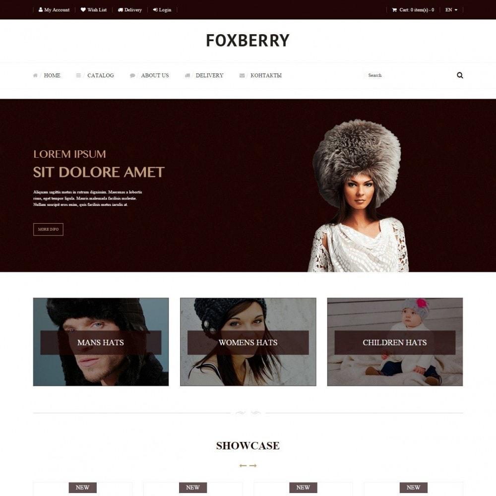 theme - Мода и обувь - Foxberry - Магазин Шапок - 2