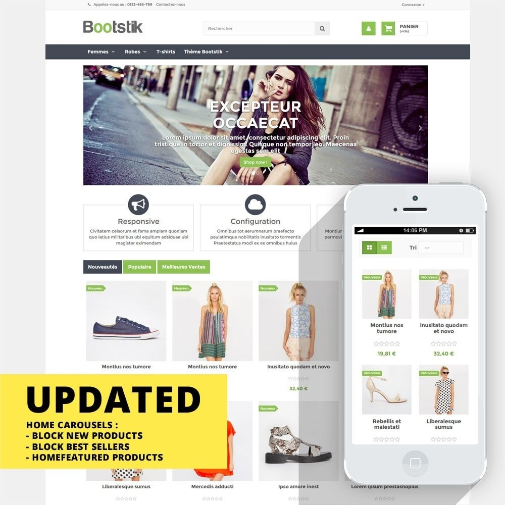 theme - Moda & Calzature - Bootstik Responsive Theme - 1