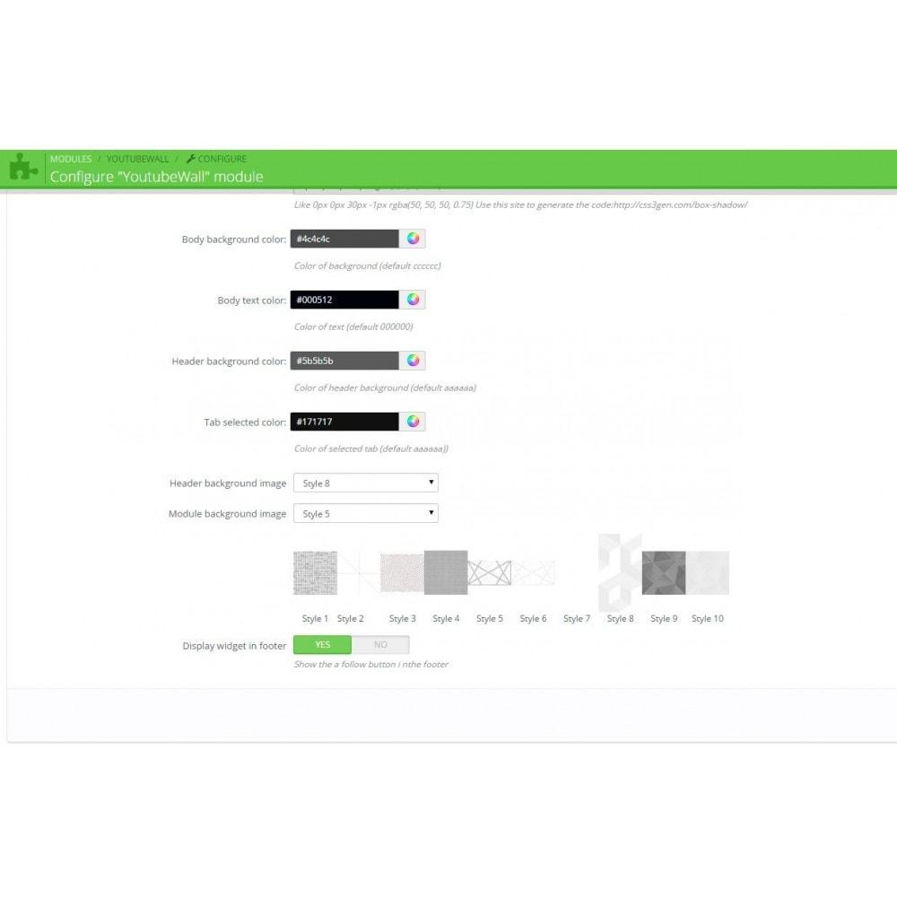 module - Widgets réseaux sociaux - Youtube Wall - 6