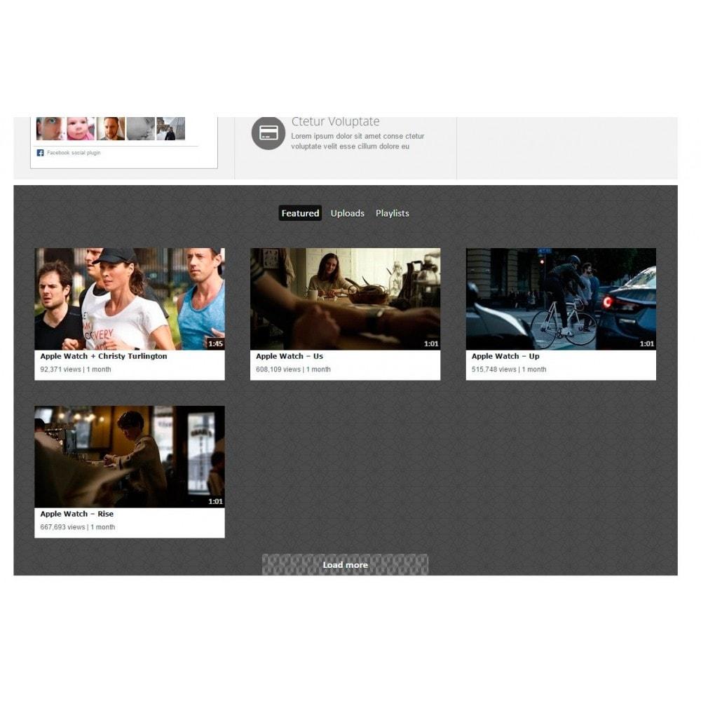 module - Widgets para redes sociales - Youtube Wall - 4