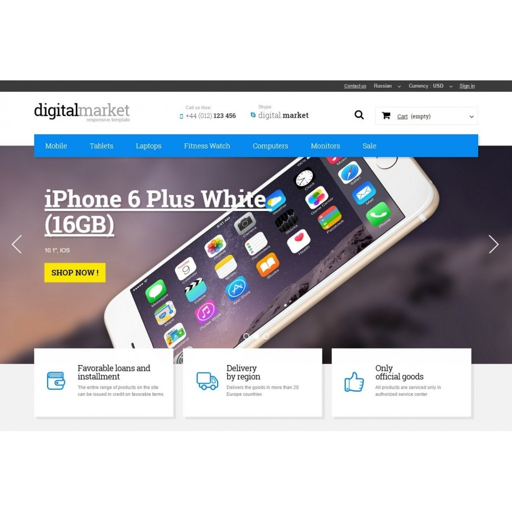 theme - Electrónica e High Tech - Digital Market Responsive Prestashop 1.6 Template - 3