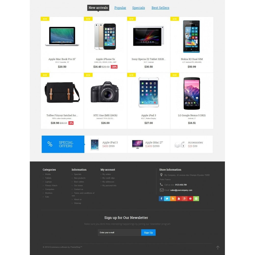 theme - Electrónica e High Tech - Digital Market Responsive Prestashop 1.6 Template - 4
