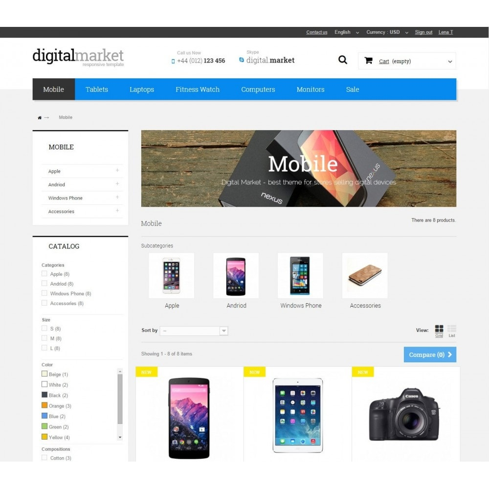 theme - Electrónica e High Tech - Digital Market Responsive Prestashop 1.6 Template - 6