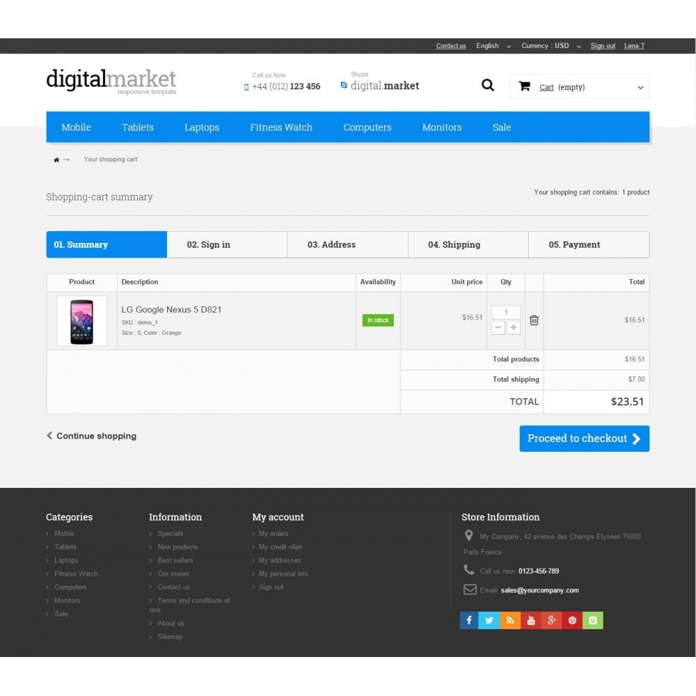 theme - Electrónica e High Tech - Digital Market Responsive Prestashop 1.6 Template - 9