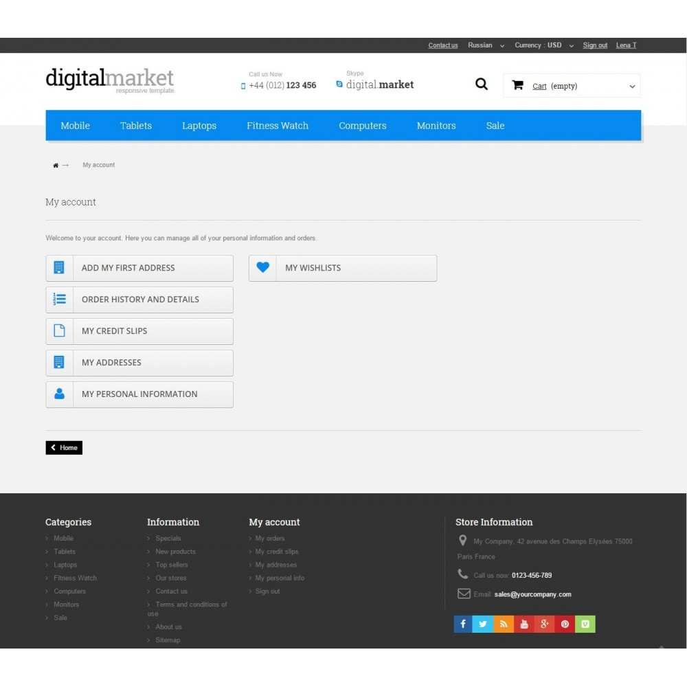 theme - Electrónica e High Tech - Digital Market Responsive Prestashop 1.6 Template - 10