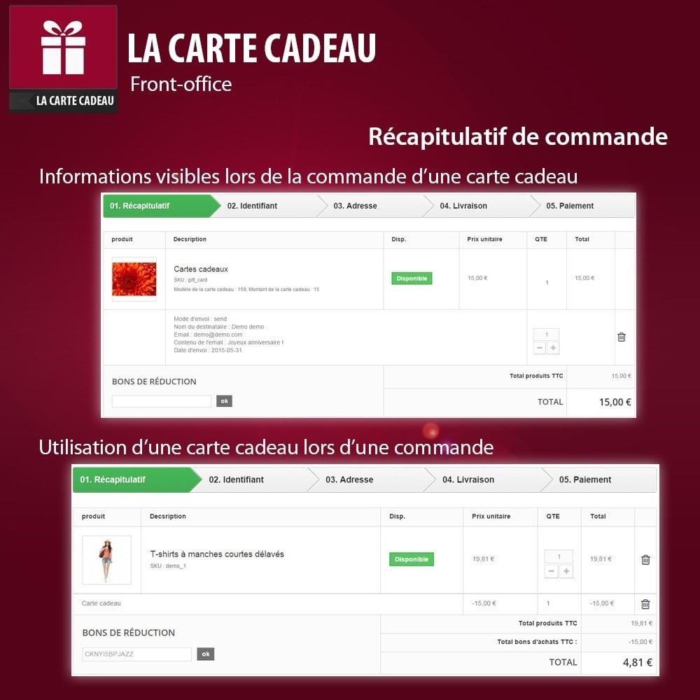 module - Liste de souhaits & Carte cadeau - La Carte Cadeau - 3