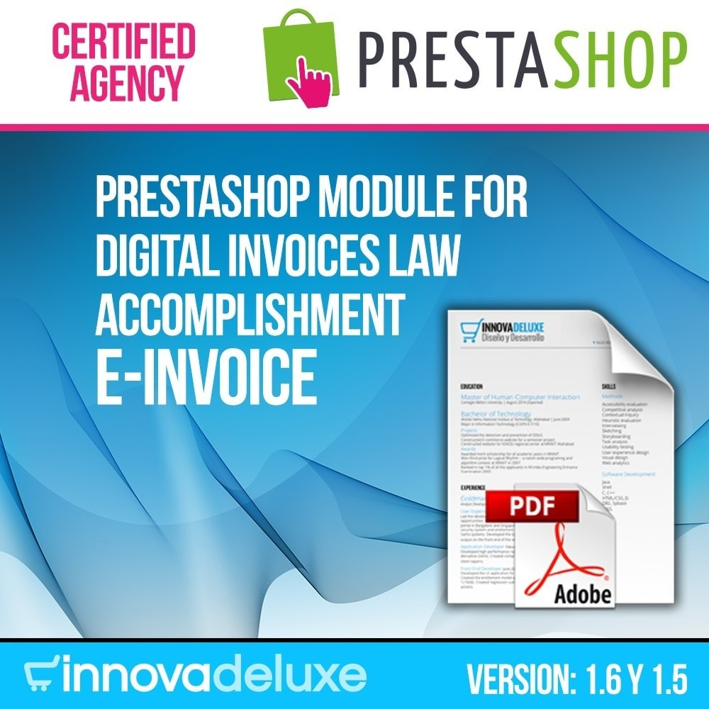 Digital Invoice Trade Regulations Compliance PrestaShop Addons - Digital invoice
