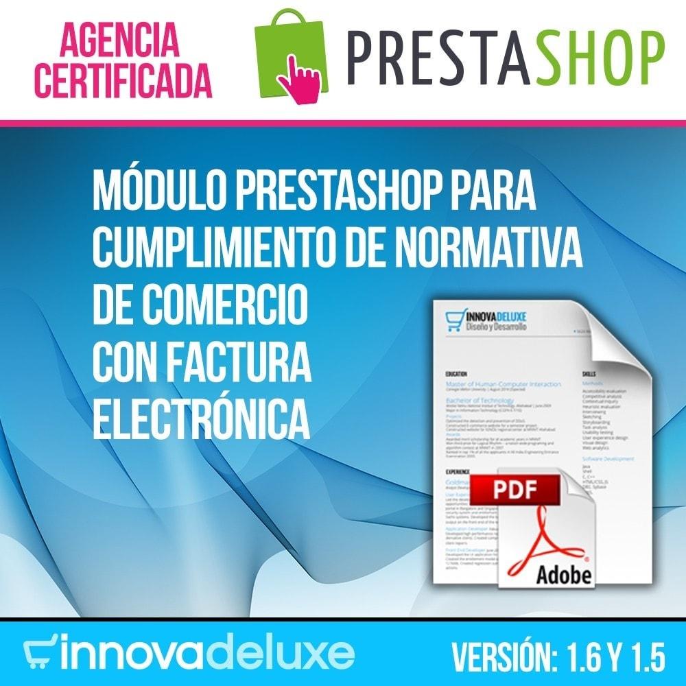 module - Contabilidad y Facturas - Factura Electrónica (cumplimiento normativa comercio) - 1