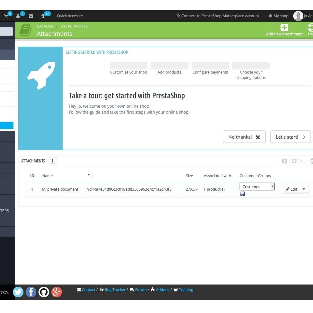 module - Gestione clienti - Nascondere allegati di prodotto per gruppi di clienti - 2