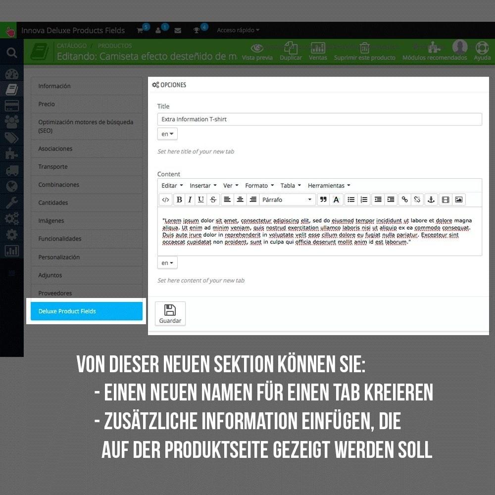 module - Zusatzinformationen & Produkt-Tabs - Zusätzlichen Informationen die einzelnen Produktseiten - 6