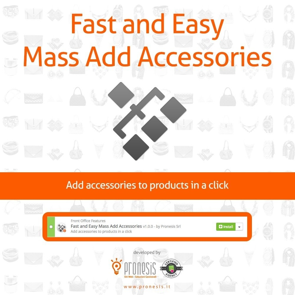 module - Snelle & seriematige bewerking - Fast and Easy Mass Add Accessories - 1