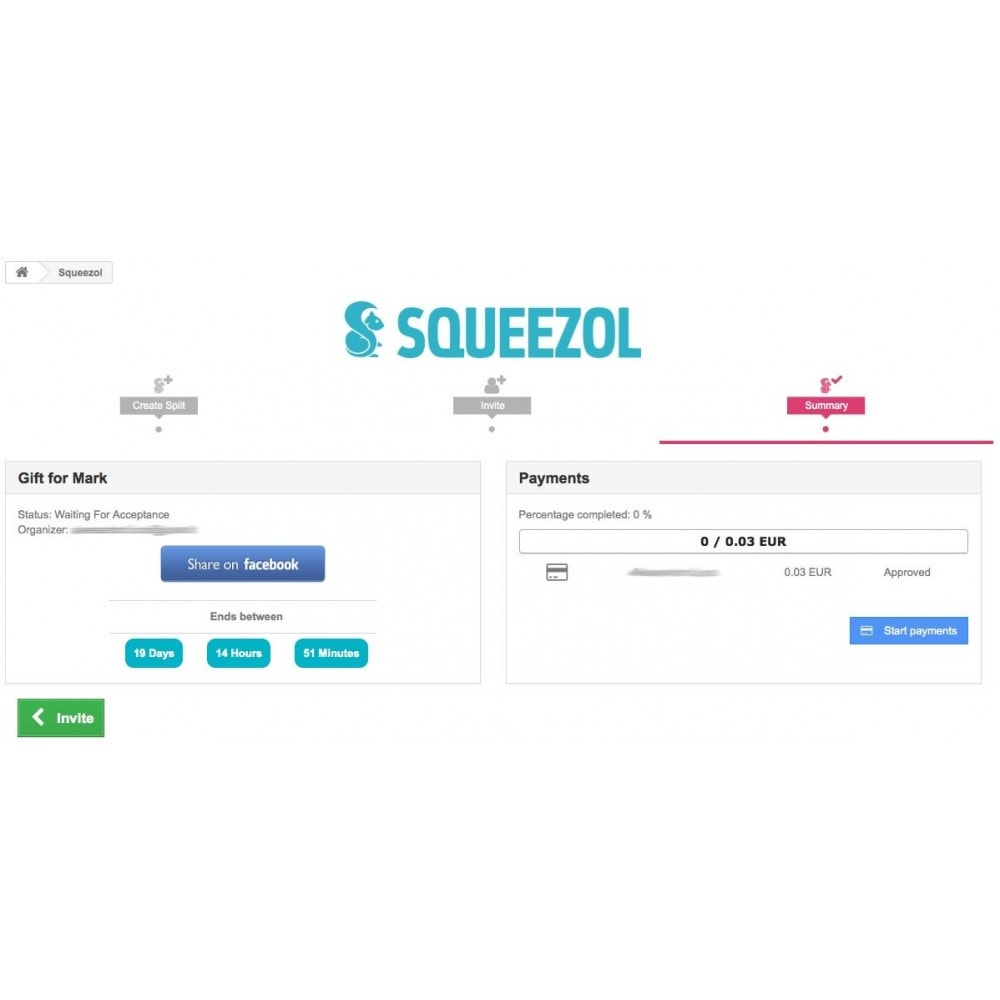 module - Inne środki płatności - Squeezol Split - Pay with Squeezol(split with friends) - 6