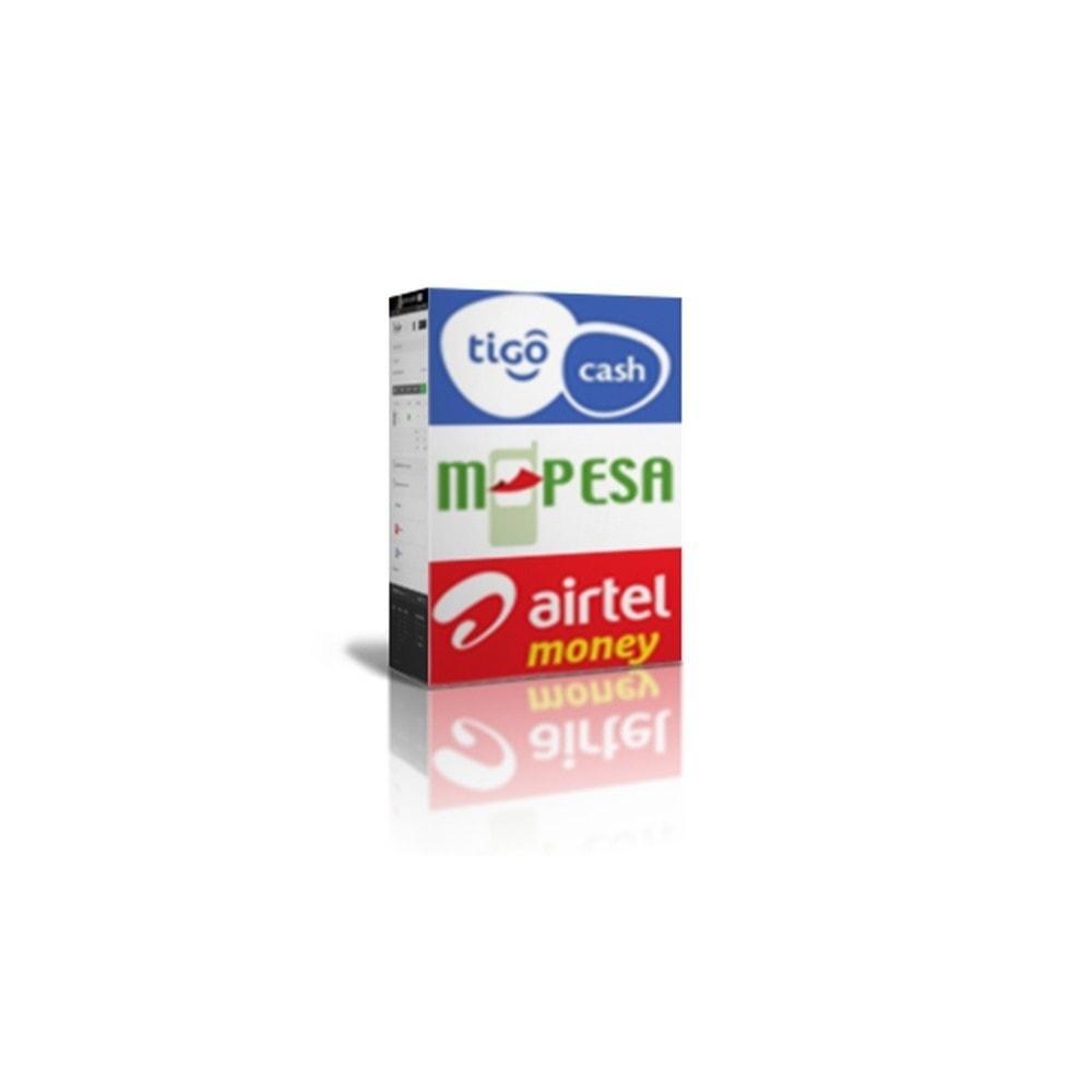module - Альтернативных способов оплаты - Payments by M-Pesa , AirtelMoney, TigoCash - 1