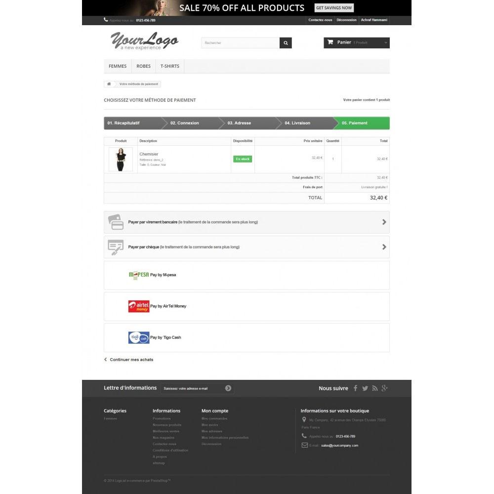module - Autres moyens de paiement - Payments by M-Pesa , AirtelMoney, TigoCash - 3