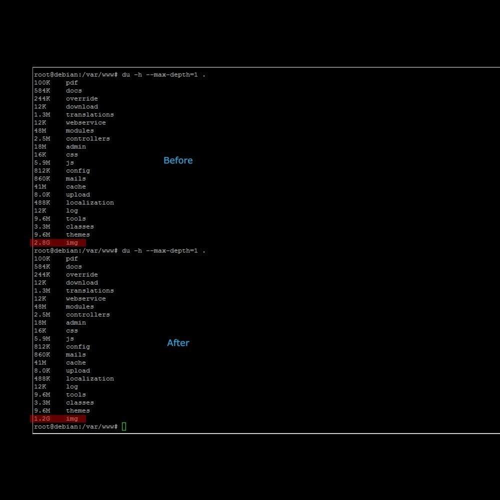 module - Performance du Site - Supprime les images inutile, économise l'espace disque - 2
