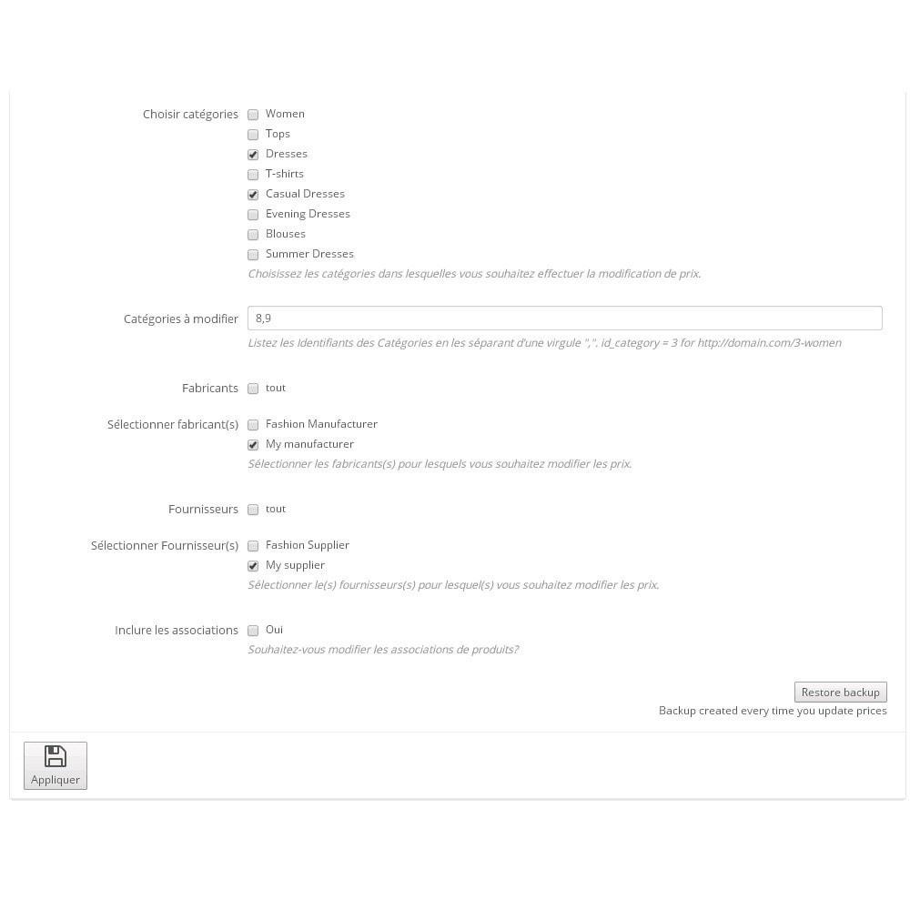 module - Edition rapide & Edition de masse - Assistant de mise à jour de prix en masse - 3