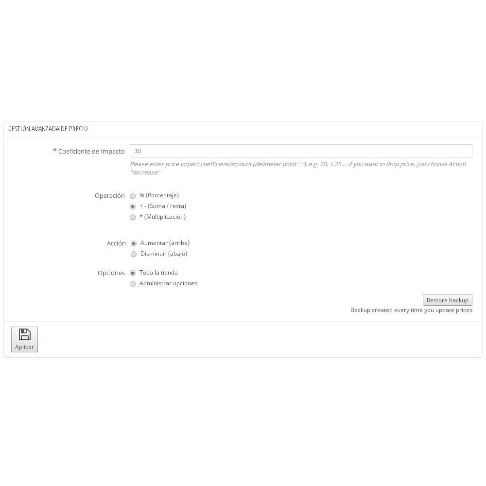 module - Edición Rápida y Masiva - Asistente de actualización masiva de precios - 1