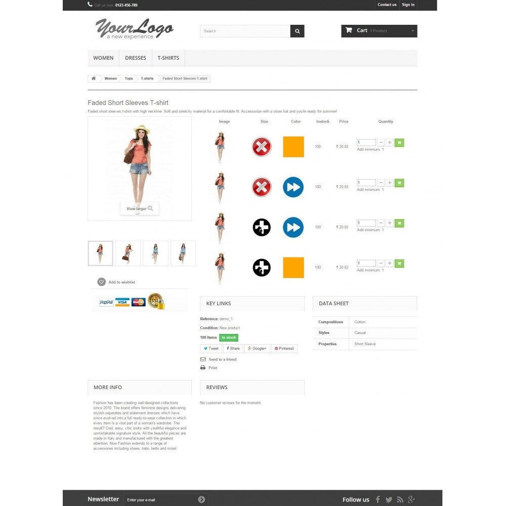 module - Combinaciones y Personalización de productos - Product Customization Combinations Attributes with Cost - 5