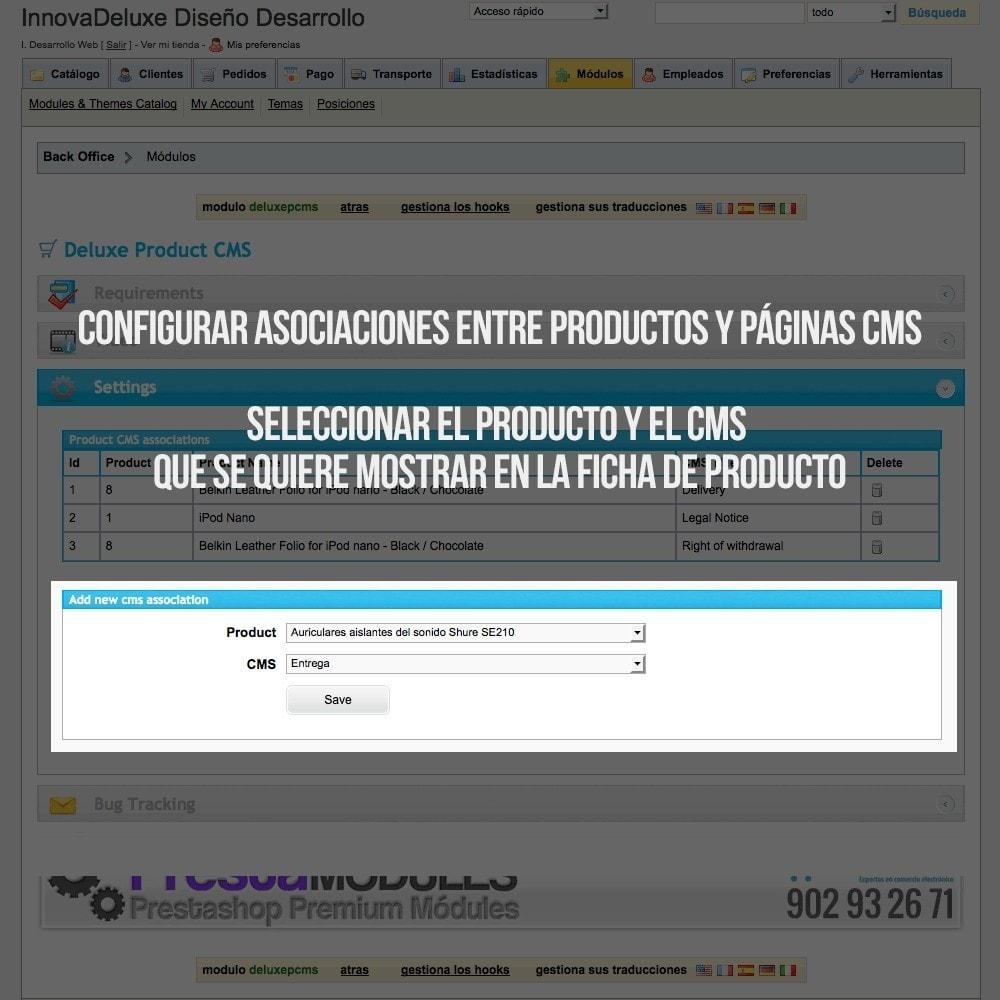 module - Informaciones adicionales y Pestañas - Páginas CMS en pestaña de ficha de producto - 2